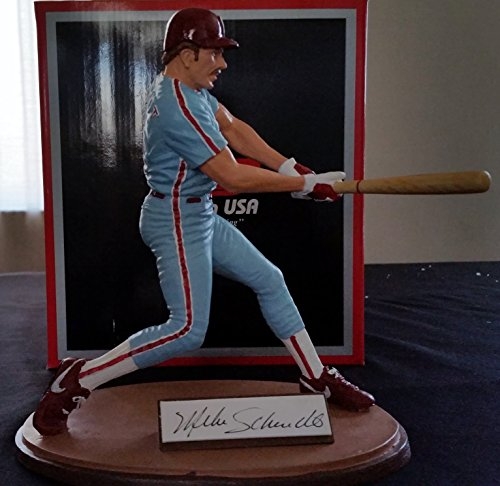 """1988 Gartlan MIKE SCHMIDT Hand Signed Cold Cast Porcelain 8"""" Figurine Limited Edition Serial Numbered Autographed Complete w/ Original Box and COA Philadelphia Phillies HOF"""