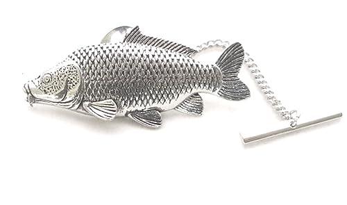 Corbata de peces síntomas Carp Pin, Fine English Pewter, pesca ...