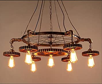 Kronleuchter Rustikal ~ Fghome grand retro loft edison kronleuchter pendelleuchte