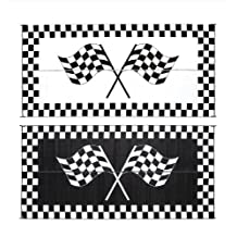 "Ming's Mark RF-8201 8"" X 20"" Racing Flag Mat"