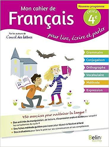Mon Cahier De Francais 4eme Amazon Fr Collectif Emmanuel