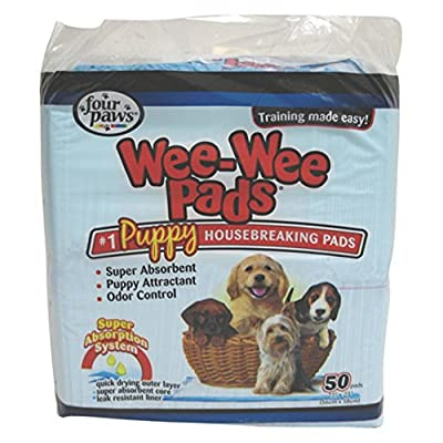 "Four Paws Wee-Wee Pet Training and Puppy Pads, Standard Size (22"" x 23"") from Four Paws"