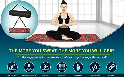 Yogarise Anti Skid and Durable Multicolour Yoga Mat