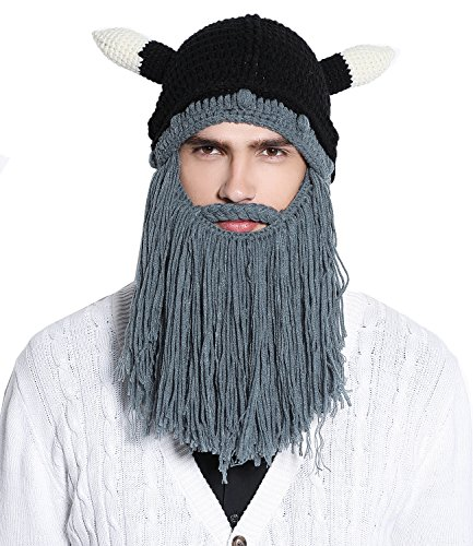 ffda9cc6720 Knit Viking Beard Mustache Beanie product image