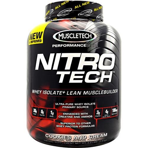 Nitro Tech, Perfect, Cookie& Cr, 4 lb ( Multi-Pack) by MuscleTech