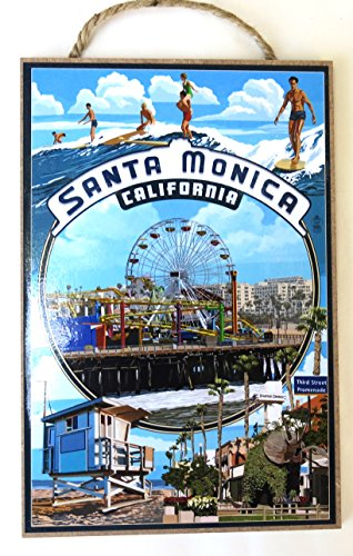 Santa Monica, California, Souvenir, Wall Decor, Wood Wall Plaque,10