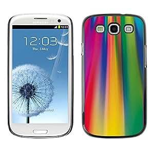 Be Good Phone Accessory // Dura Cáscara cubierta Protectora Caso Carcasa Funda de Protección para Samsung Galaxy S3 I9300 // Acid Lines Colorful Pattern Fuchsia