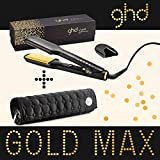 Ghd - Fer A Lisser Styler Max Gold Plaque Large Avec Pochette Ghd Ronde
