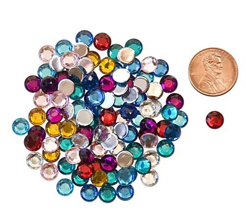 The Beadery 9mm Acrylic Faceted Gemstones, Round, 100-Piece