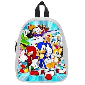Amazon.com : Cartoon SONIC Kids PU Leather School Bag ...