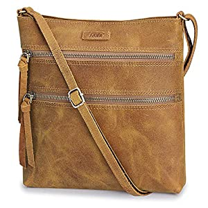 S-ZONE Crazy Horse Leather Crossbody Purse Shoulder Bag Handbag for Women