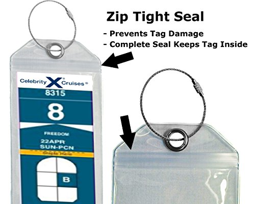 Cruise-Luggage-Tag-Holder-Zip-Seal-Steel-Royal-Caribbean-Celebrity-Cruise