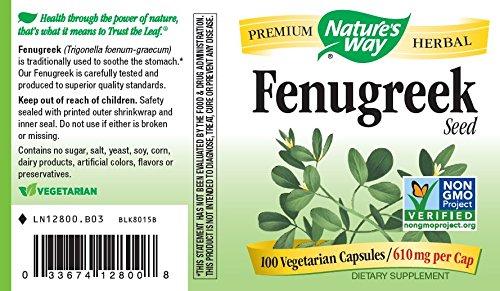 Amazon Com Nature S Way Premium Herbal Fenugreek Seed 610 Mg Per