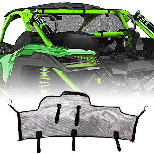Rear Black Windscreen Mesh Fit For Can-Am Maverick X3 Max R 2017-2018 Models (Can Am Maverick Windscreen)
