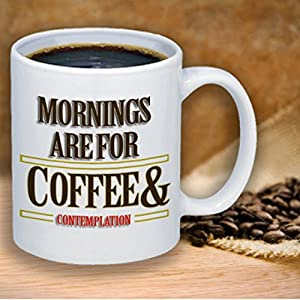 Mornings are for Coffee and Contemplation - Stranger Things - Fandom Coffee Mug Gift Cute Funny Gift Coworker Friend Office Gift Co Worker Gift