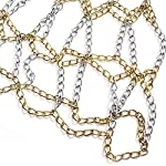 TUXI-rete-di-ricambio-per-pallacanestro-catena-in-acciaio-galvanizzato-rete-da-basketnessun-gancio-ideale-come-regalo-per-ragazzi-uomini-appassionati-di-basket