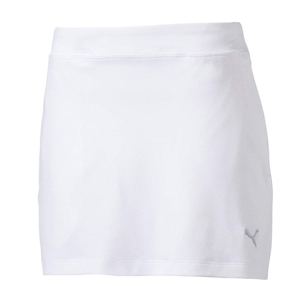PUMA Golf 2017 Girl's Solid Knit Skirt, Bright White, X-Small