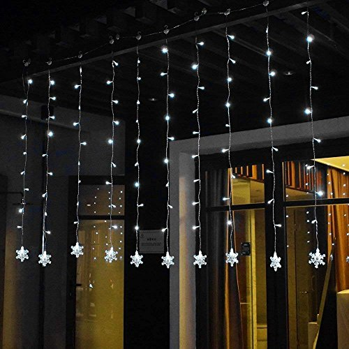 Led Snowflake Icicle String Lights in Florida - 4
