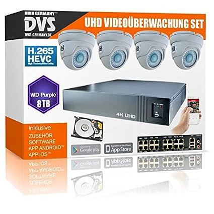 DVS Germany 160043 - Juego de cámaras de vigilancia (8000 GB, UltraHD)