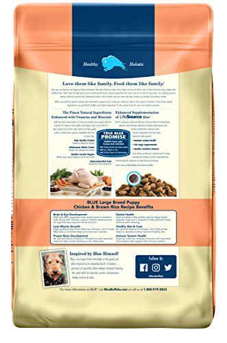 Blue Buffalo Life Protection Formula Natural Puppy Large Breed Dry Dog Food, Chicken and Brown Rice 30-lb by BLUE Life Protection Dog Food (Image #1)