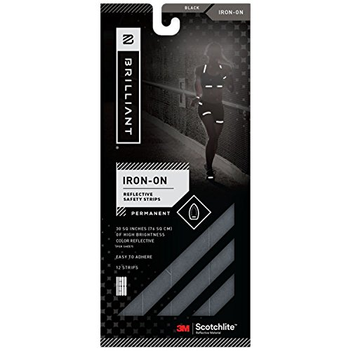 Brilliant Reflective Reflector Tape: Adhesive Iron-on Strips for Clothing Made of 3M Scotchlite Reflective Safety Material - Washable and Waterproof Light Reflecting Decals