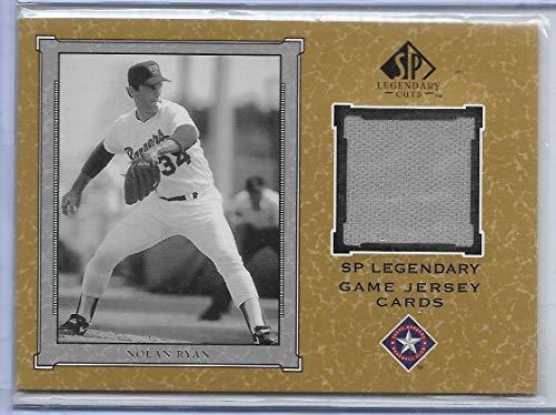 2001 SP Legendary Cuts Baseball Nolan Ryan Legendary Game Jersey Card # J-NR ()