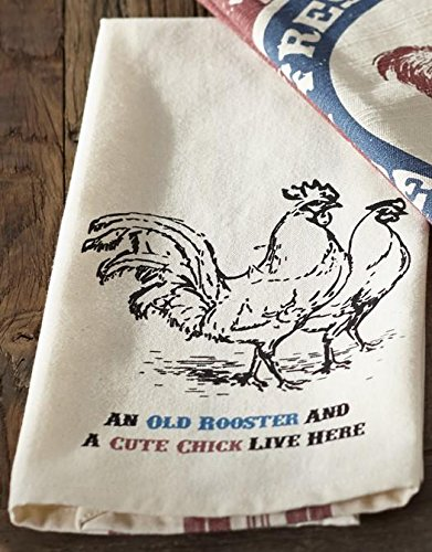 (Farm Feed Old Rooster Dishtowel - Country Farmhouse Kitchen Dish Towels)