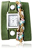 watches for women nickle free - La Mer Collections Women's 'Multi Chain' Quartz Stainless Steel Case Back, Nickle Free Mixed Metal Alloy and Leather Watch, Color:Thai Green/Silver-Toned (Model: LAMERMULTI4508)