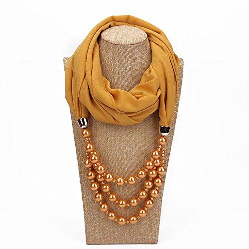 汚す底スーダンDuRone - シミュレートされた真珠のネックレスPendnat女性のシルクスカーフジュエリー装飾ファッション春民族パールジュエリーギフト