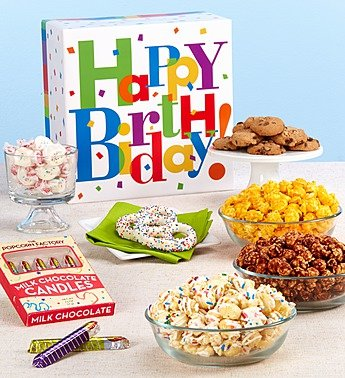 1800Flowers   The Popcorn Factory Big Birthday Sampler Box