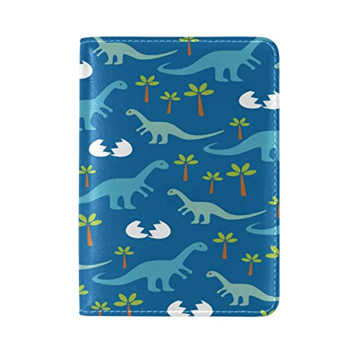 Baby Dinosaurs Leather Passport Cover Travel Passport Holder Cover Case by Yuihome
