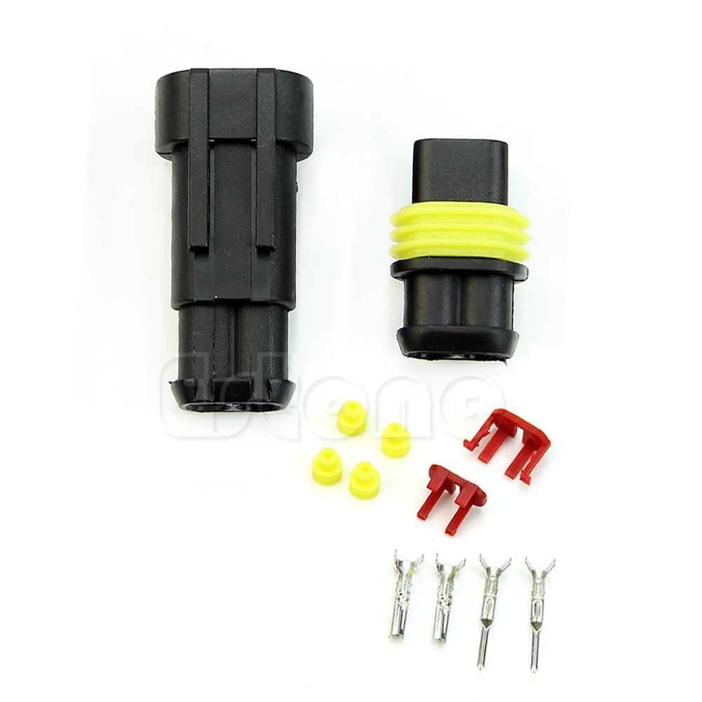 NNDA CO 1 Kit 2 Pin Way Waterproof Electrical Wire Connector Plug For Car Motorcyle new