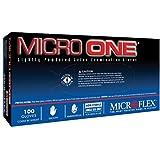 Microflex MO150M Lightly Powdered Micro-One Latex Glove Size Medium, 100 Box by Microflex