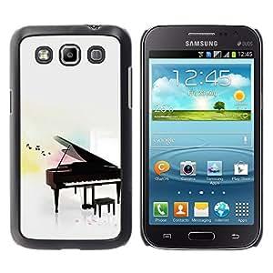 TopCaseStore / la caja del caucho duro de la cubierta de protección de la piel - Piano - Samsung Galaxy Win I8550 I8552 Grand Quattro
