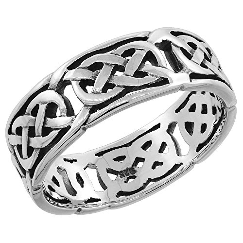 Sterling Silver Celtic Wedding Thumb