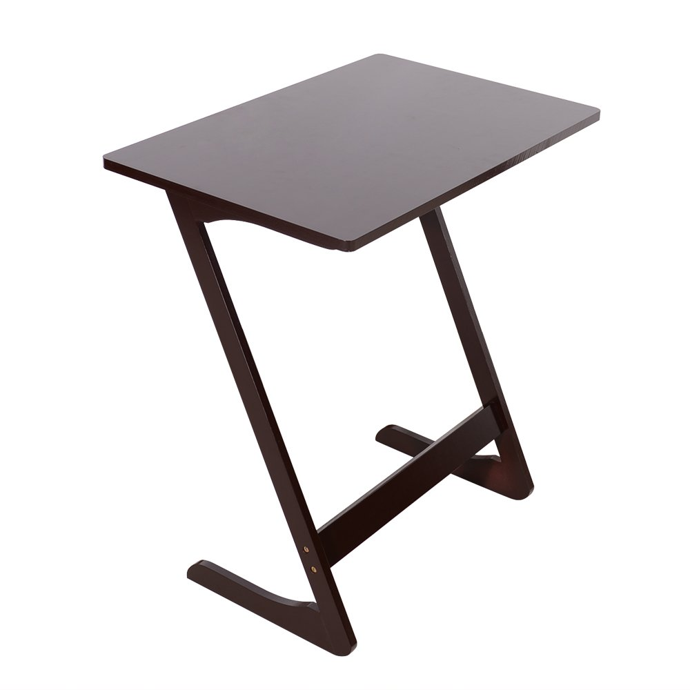 Amazon com cosway bamboo tv tray sofa couch coffee end table z shaped portable laptop desk bed side table snack table modern furniture kitchen dining