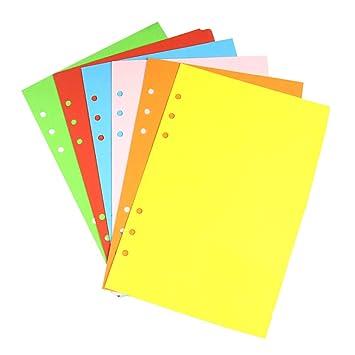 YeahiBaby A5 Separadores de Archivador con 6 Anillas de Plástico Clasificados Colores para Paquete de Cuadernos de 6 Anillas: Amazon.es: Hogar