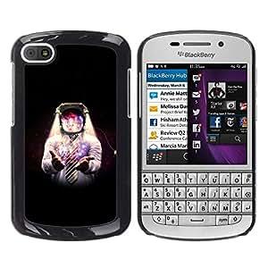 EJOY---Cubierta de la caja de protección la piel dura para el / BlackBerry Q10 / --Espacio Galaxy Hombre