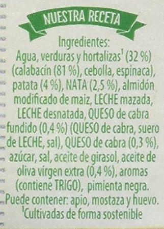 Knorr Las Clásicas Crema de Calabacín con Queso de Cabra - 500 ml: Amazon.es: Amazon Pantry