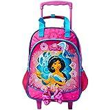 Mala Escolar G com Rodinhas Disney Jasmine, 41 x 30 x 14, Dermiwil 51986, Multicor