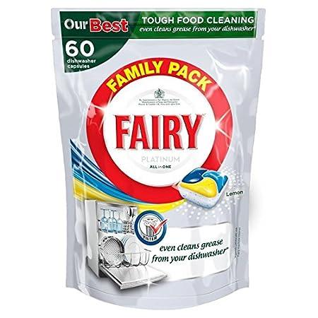 Fairy Platinum Lavavajillas tabletas Limón 60 por paquete