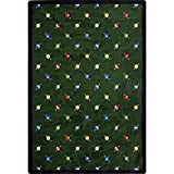 Joy Carpets Games People Play Billiards Gaming Area Rugs, 64-Inch by 92-Inch by 0.36-Inch, Green