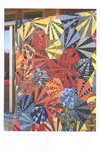 (Chinese Fireworks Aardvark Paper Pieced Hexagon Wall Quilt Pattern)