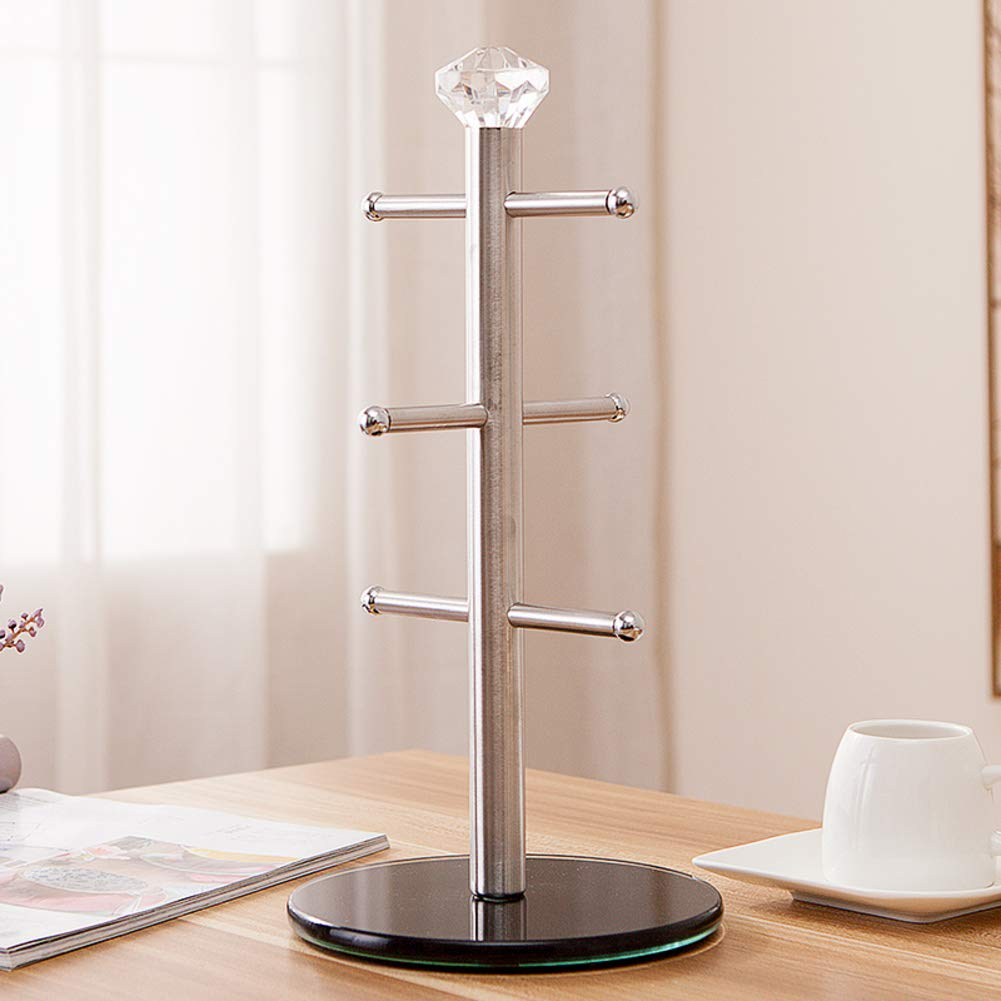 HUIYUE Mug Holder,Cup Holder,Creative Home Tea Cup Holder,Stainless Steel Drainmug Holder,Drying Rack Stand-A 17x34cm(7x13inch)
