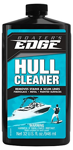 (Boater's EDGE Hull Cleaner - Fiberglass, Metal & Painted Surface Stain Remover 32 oz)