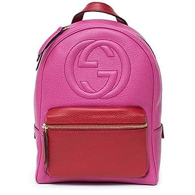 Amazon.com: Gucci Soho Backpack Bag Leather Pink Rosette