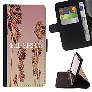 Jordan Colourful Shop -Hello Sunshine -- Leather Case Absorci¨®n cubierta de la caja de alto impacto FOR Apple iPhone 5 5S ---
