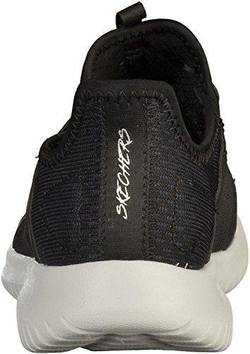 Skechers Women's Ultra Flex 12832-Blk Trainers, Black Multicoloured (Black 001)