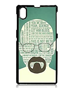 Sony Xperia Z1 Case, Cartoon Breaking Bad Theme [Perfect Fit] Protective Snap-On Case for Sony Xperia Z1