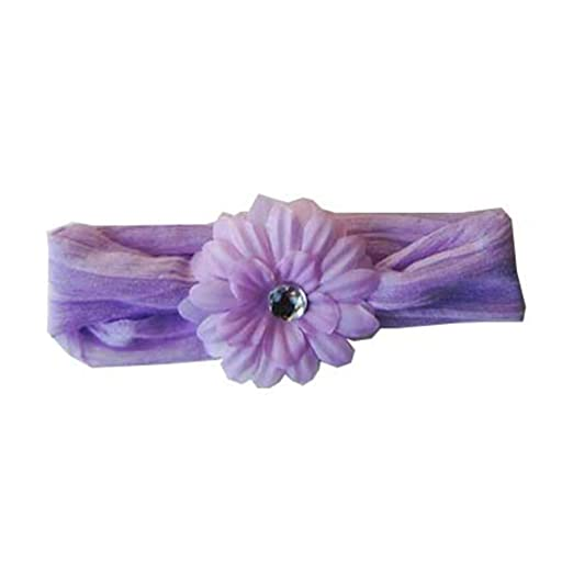 Amazon.com  Soft and Stretchy Flower Headband with Purple Daisy ... bd4c98443ef